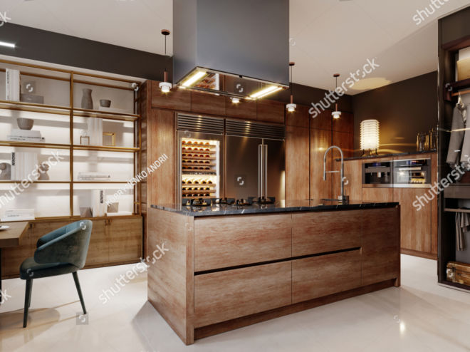 stock-photo-luxurious-kitchen-modern-style-with-wooden-contemporary-furniture-and-island-with-hood-burgundy-1773423626 copy